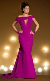 MNM Couture - 2176 Embellished Off Shoulder Trumpet Dress