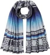 Kenzo Printed Scarf with Wool and Silk