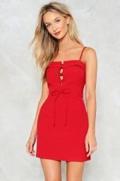 nastygal Tie Candy Mini Dress