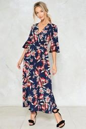 nastygal Don't Let the Sun Catch You Crying Floral Dress