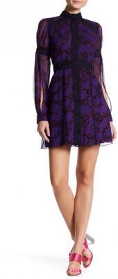 Anna Sui Apples Print Silk Dress