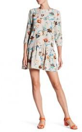 Vitagrad Silk Blend Print Dress