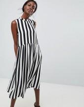 Y.A.S High Neck Stripe Dress