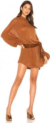 Free People Fete Sweater Dress in Burnt Orange