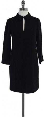 Marc by Marc Jacobs Black Collared Long Sleeve Dress