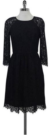 Trina Turk Black Lace Fit & Flare Dress
