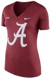 Women's Nike Alabama Crimson Tide Striped Bar Tee
