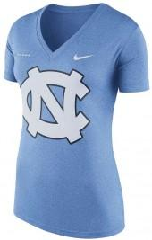 Women's Nike North Carolina Tar Heels Striped Bar Tee