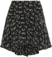 Mes Demoiselles - Frikette Printed Silk Mini Skirt - Black