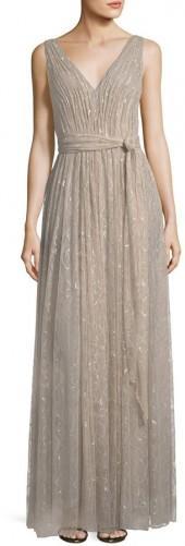 Vera Wang Sleeveless Lace Gown