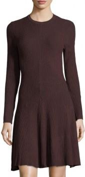 John & Jenn Ribbed-Knit Long-Sleeve Dress