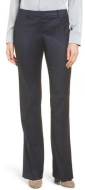 Women's Boss Stretch Wool Blend Suit Trousers