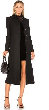 Red Valentino A Line Coat in Black