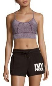 Marled Strappy Sports Bra