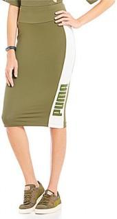 Puma Archive Logo T7 Pencil Skirt