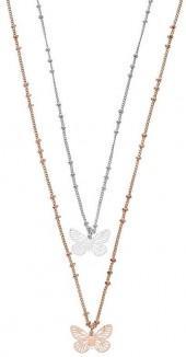 LC Lauren Conrad Butterfly Pendant Necklace Set