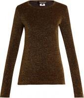 JUNYA WATANABE Long-sleeved lurex knit sweater