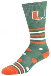 NCAA Women's Miami Hurricanes Razzle Knee-High Socks