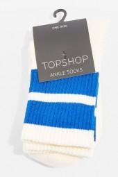 Wide-stripe sporty tube socks