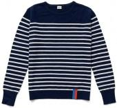 The Sophie Cashmere Sweater - Navy/Cream