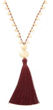 Gorjana Leucadia Beaded Tassel Necklace