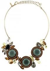Marni Crystal & Leather Collar Necklace