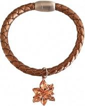 Brown & Rose Gold Poinsettia Bracelet