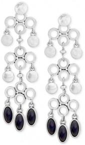 Lucky Brand Silver-Tone Reversible Stone Chandelier Earrings, a Macy's Exclusive Style