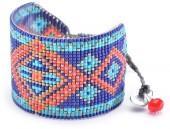 Mishky Rays Patterned Wide Beaded Bracelet