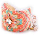 Mishky Mandala & Wishbone Beaded Bracelet Set