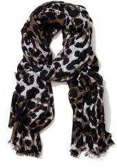 Reed Wool Scarf in Watercolor Cheetah