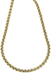 Ice 6.3 mm High Polished 14K Gold Rolo Chain Necklace