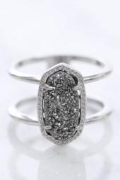 Kendra Scott Elyse Silver Drusy Ring