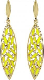 Yellow & Gold Crystal St. Clara Drop Earrings