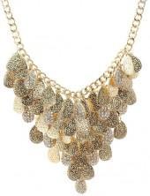 Savvy Cie Textured Layer Bib Necklace