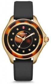 Women's Michele Cape Jewel Head & Silicone Strap Watch, 40Mm