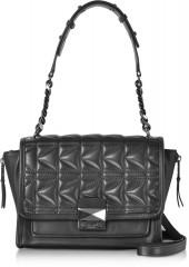 Karl Lagerfeld K/Kuilted Black Leather Handbag