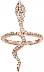 SHASHI - Snake Wrap Ring Ring