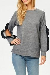 Jolie French Terry Ruffle Top