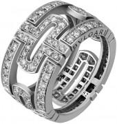 BVLGARI Estate Parentesi 18k Pave Diamond Band Ring, 1.46 tcw, Size 6.25