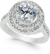 Charter Club Silver-Tone Crystal Halo Ring, Created for Macy's