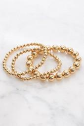 Gorjana Round Beaded Bracelet Set