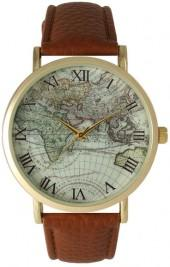 Olivia Pratt Women's Vintage World Map Quartz Watch