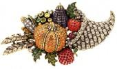 "Heidi Daus ""Thanksgiving"" Crystal Pin"