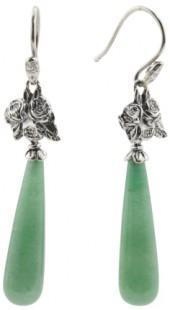 Made In Israel Sterling Silver Aventurine Drop Earrings