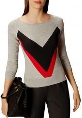 KAREN MILLEN Bodyline Collection Chevron Sweater