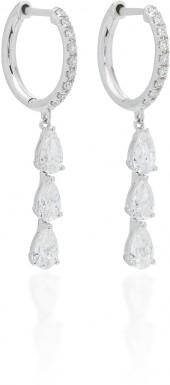 Anita Ko Huggies with 3 Pear Diamonds