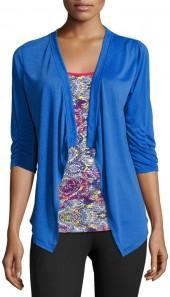 Soybu Vita Open-Front Jersey Cardigan