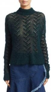 Tanya Taylor Everette Rib-Knit Sweater