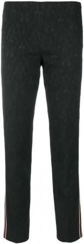 Pt01 side-striped fitted trousers